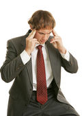 Headache at Work — Stock Photo