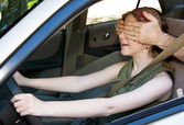 Driving Blind — Stock Photo