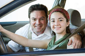 Driving with Dad — Stock Photo