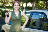 Her New Car — Stock Photo