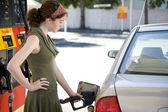 Pumping Gas — Stock Photo