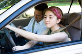 Teen Driver on the Road — Foto Stock