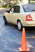 Teen Driving Test Thumbsup — Stock Photo