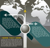 Vector Background With Aircraft — Cтоковый вектор