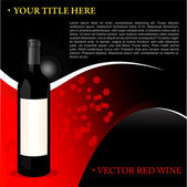Red Wine Background — Stock Vector