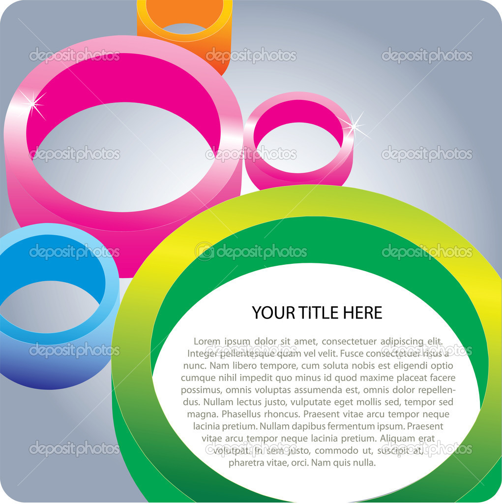 3D Color Circles Background Fro Poster And Brochure — Stock Vector #6451707