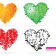 Royalty-Free Stock Imagen vectorial: Floral Heart