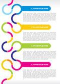 パンフレットやポスターのコンセプト — ストックベクタ