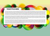 Kleurrijke cirkel achtergrond — Stockvector