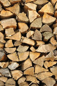 Texture of stored light wood cut — Stock Photo
