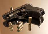 Pistol with cartridges 2 — Stock Photo
