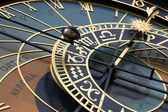 Old astronomic clock in Prague (orloj) — Stock Photo