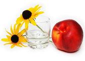 在白色背景上的水果 — 图库照片
