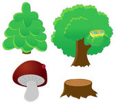 Forest icon set — Stock Vector