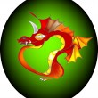 Royalty-Free Stock Vector Image: Oriental red dragon