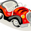 Stock Vector: Retro exotic car