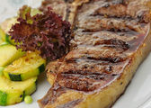 Barbecue T Bone steak close up — Stock Photo