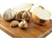 Garlic and onion — Stock Photo
