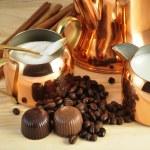 Vintage coffee set — Stock Photo