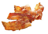 Fried bacon — Stock Photo