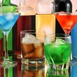 Variety of alcoholic drinks — Stock Photo