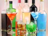 Variety of alcoholic drinks — Stock Photo