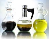 Oil , vinegar and salad dressing — Stock Photo