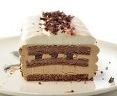 Cappuccino cream cake — Stock Photo