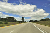 Road and beautiful sky — Stock Photo