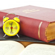 Clock and book as time management concept — Stock Photo #6540050