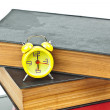 Clock on book as time management concept — Stock Photo #6540153