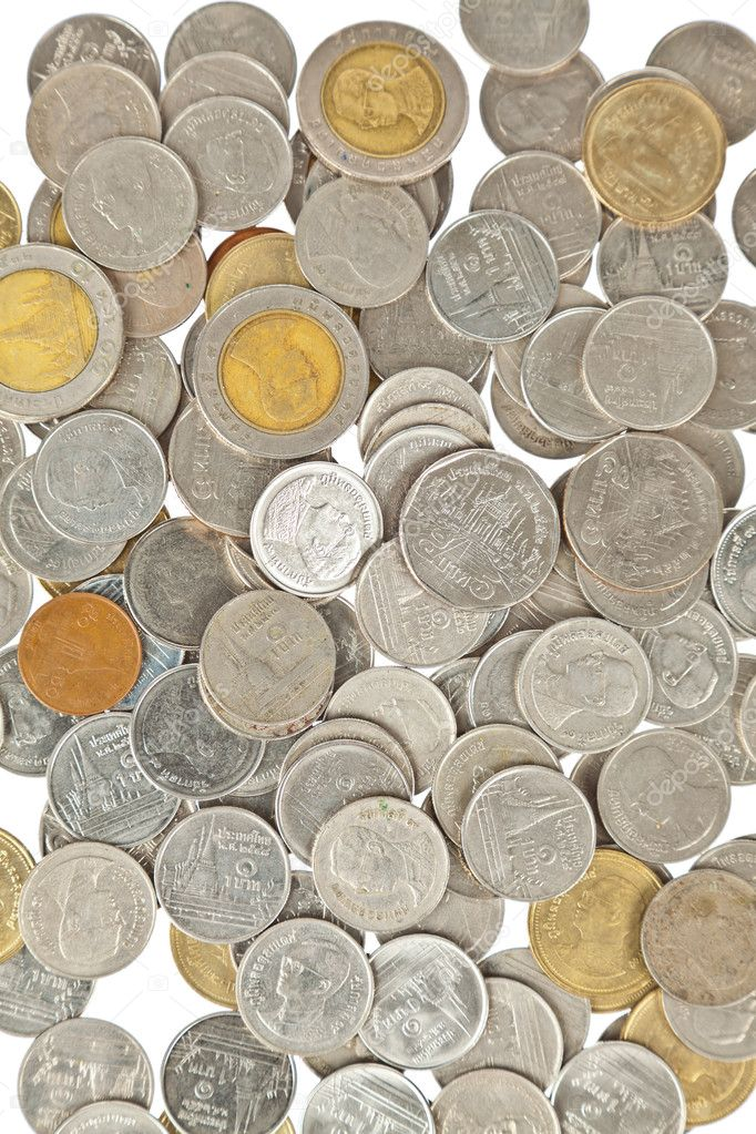 Coins thai baht background — Stock Photo #6540117