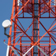 Mobile phone communication repeater antenna tower — Stockfoto