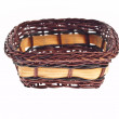 Wicker Basket On White Background — Stock Photo