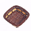 Wicker Basket On White Background — Lizenzfreies Foto