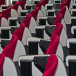 Lines of red chairs in the meeting room. — Stock Photo