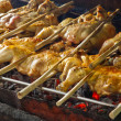 Grilling chicken — Stock Photo #6647408
