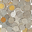 Coins thai baht background — Stock Photo