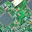 Royalty-Free Stock Photo: The modern printed-circuit board with electronic components macr