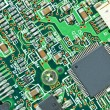 The modern printed-circuit board with electronic components macr — Stock Photo