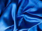 Luxury blue satin background — Stock Photo