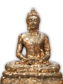 Buddha is covered with golden plate — Stock Photo