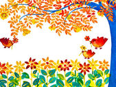 Carte de voeux colorée joyeux anniversaire — Photo