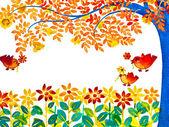 Kolorowe urodziny powitanie karta — Zdjęcie stockowe