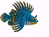 Lion fish sculpture on white background — Stock Photo