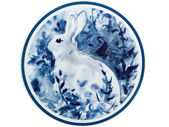 Rabbit,This is a picture, representing the Chinese Zodiac, such — Stock fotografie