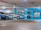 Bangkok, Thailand - April 07, The parking lot in underground on — Stock Photo