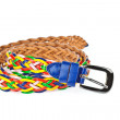 Colorful belt  on white background - Foto Stock