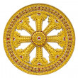 Wheel of dhamma of buddhism — 图库照片