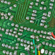 The printed-circuit board with electronic components macro backg — ストック写真